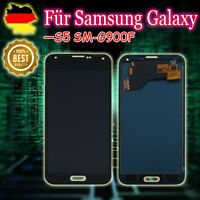 LCD Display Für Samsung Galaxy S5 SM-G900F Touch screen Bildschirm Schwarz
