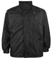 *NEW* Mens Big Size Waterproof Black Performance Jacket 3XL 4XL 5XL 6XL 7XL 8XL
