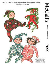 Vintage Christmas Pixie Dolls Sewing Patterns - from the 60's