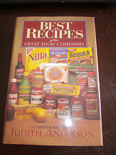 Best Recipes of the Great Food Companies by Judith Anderson (1997, HCDJ) Nice