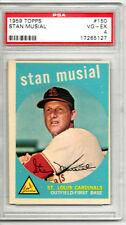 1959 Topps Stan Musial #150 PSA 4 P102