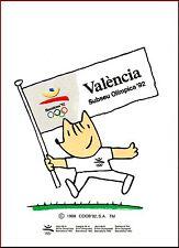 POSTAL XAVIER MARISCAL. COLECCION OLIMPICA Nº20 COBI SUBSEDE VALENCIA: FUTBOL.