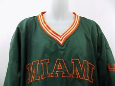 Miami Hurricanes Green Orange Pullover Jacket Size 2XL XXL Pro Player Vintage