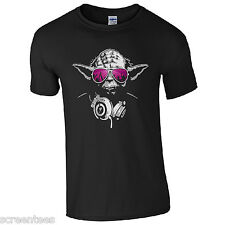 DJ Yoda Jedi Master T-Shirt - Star Wars Music Hip Hop Party Disco Kids Mens Top