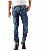 Guess Homme Jeans Moulant en Foncé Délavé Taille 30