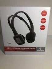Discontinued RadioShack Lightweight Sport AM/FM Stereo Headset Radio Bass Boost
