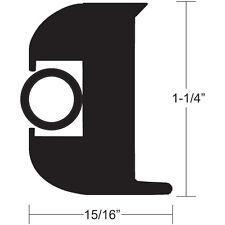 "TACO Flexible Flex Vinyl Boat Rub Rail Kit Black with Insert 1-1/4"" x15/16"" 50FT"