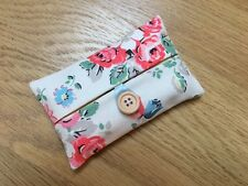 Handmade Packet Tissue Holder Made With Cath Kidston Forest Bunch Fabric