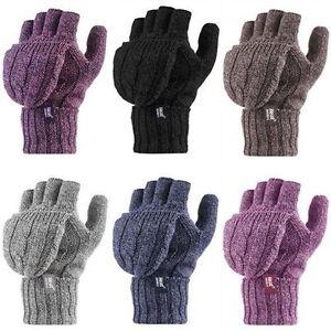 Heat Holders Femme chaud polaire refermable mitaine thermique gants sans doigts