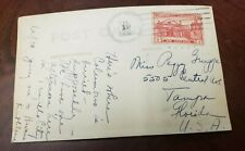 Vintage Post Card With A stamp Of Dominican Republic 1938 Traveling To USA .(P3)