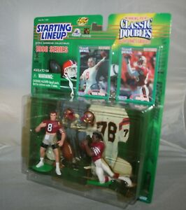 1998 Starting Lineup JERRY RICE STEVE YOUNG 49er's  2 Pack Figures Cards MIP