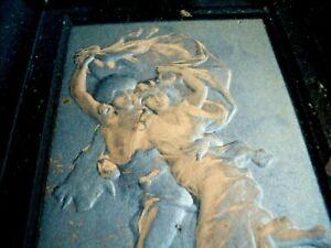 Rare  Antique 1896 Campbell Art Co Elizabeth NJ Embossed Shadow Box  THE STORM