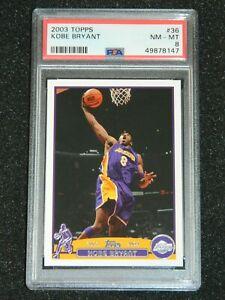2003-04 Topps Kobe Bryant #36 PSA 8 NM-MT Los Angeles Lakers Basketball Card