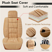 Universal Car Front Plush Seat Cushion Covers Set Warmer Mat Seat Full