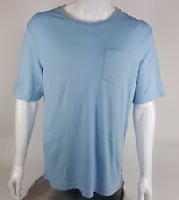 Mens Croft /& Barrow Easy Care Pocket Tee NEW Blue T-Shirt Medium Short Sleeves