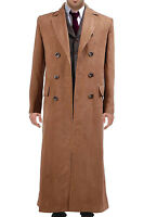 Doctor Who Dr. Brown Long Men Trench Coat Halloween Costume