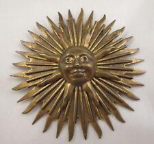 """Vintage Jan Michaels San Francisco Signed Large Sunshine Brooch Brass Tone 3"""""""