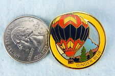 HOT AIR BALLOON PIN GINGER BLUE RED, BLUE, YELLOW