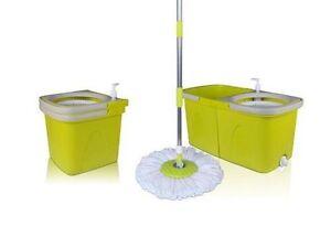 Hoga House 360° ComfortWring Clean Komplett Set Mop, Eimer, 2 Waschbezüge HF130
