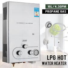 16L Warmwasserspeicher Durchlauferhitzer Gas Propangas Warmwasserbereiter Boiler