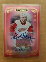 2019-20 UD Stature FILIP ZADINA Red Autograph Rookie /45  Red Wings