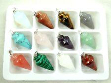 Wholesale 12PC Beautiful Mixed agate Gemstone Pendulum Pendant Beads A1