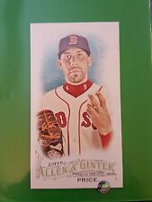2016 Topps Allen & Ginter #366 David Price Mini Rip Card Ext SP NrMint-Mint