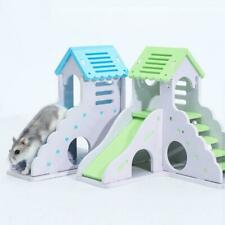 New listing Wooden Hamster Staircase Sleeping House Golden Bear Nest Bed for Small Pets Chin
