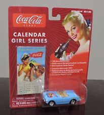 JOHNNY LIGHTNING CALENDAR GIRL SERIES #8 1954 BLUE CHEVY CORVETTE / COCA COLA