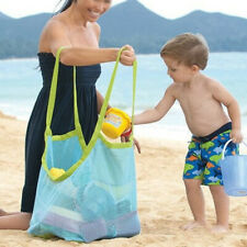 Beach Backpack Bag Mesh Toy Storage Bags Pool Toys Drawstring for Trave XBI
