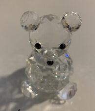 Swarovski Crystal Medium Sitting Teddy Bear Figurine, Vintage Retired Signed