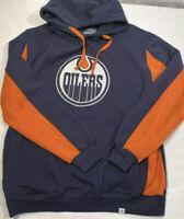 NHL EDMONTON OILERS Fanatics Pullover Hoodie Blue/Orange Mens SZ LG NEW NWT
