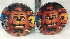 "Five Nights At Freddys Birthday Party 2 Packs Luncheon 6.75"" Plates"