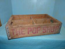 Vintage ~  1973 ~ THE POP SHOP ~ Wood Soda Pop Crate Case ~ Saginaw, Michigan