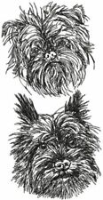 Affenpinscher Dog Breed Personalized Embroidered Fleece Stadium Blanket Gift
