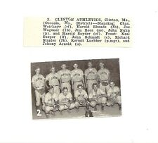 Clinton Athletics Missouri 1953 Baseball Team Picture