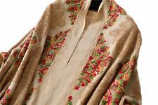 Grand Châle Beige - Cachemire broderie Pashmina Foulard Etole 200 X 70