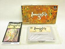 ROMANCING SA GA III 3 saga Item Ref/ccc Super Famicom Nintendo Japan Game sf