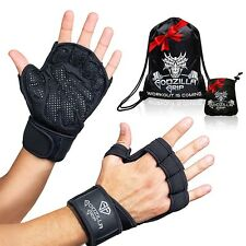 Godzilla Grip Fitness Gloves for Weightlifting, Crossfit – Black Workout Gloves