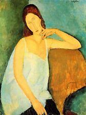 AMEDEO MODIGLIANI PORTRAIT JEANNE HEBUTERNE OLD ART PAINTING PRINT 178OMA