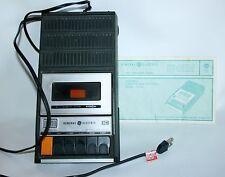 General Electric Cassette Player Battery Portable Recorder Model 3-5103A Vtg.