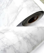 Grey Marble Contact Paper Self Adhesive Glossy Worktop Peel Stick Wallpaper Roll