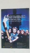 IRON MAIDEN - The Wicker Man - 2000 Magazine Advertisment Poster