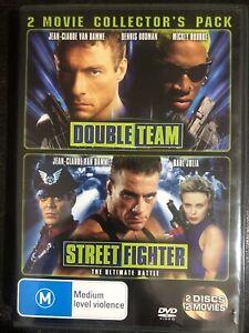 Double Team + Street Fighter DVD Region 4 Rare