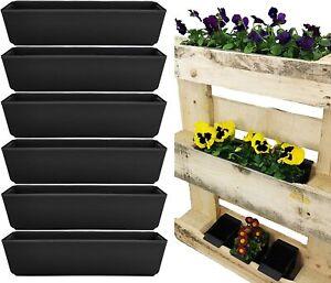 6 x Pflanzkasten Paletten Blumenkasten Pflanztopf Balkonkasten Einsatz Hochbeet