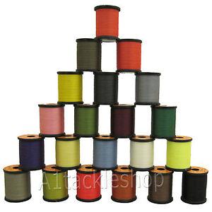 UNI Veniard Fly Tying Thread - 6/0 or 8/0 Pre-waxed 200yds Choose Colour