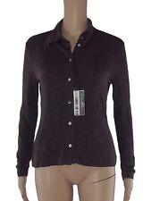 zenzero camicia donna marrone jersey stretch made italy taglia m medium