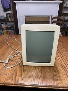 "Vintage Apple M1030 Portrait Display 15"" Vertical Document CRT Monitor Tested"