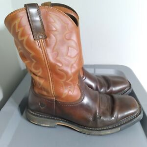 Ariat Workhog Men's Size 10.5EE Wide Square Toe Brown Western Cowboy High Boots