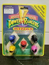 Mighty Morphin Power Rangers - 5 Ring Set - Saban (1993) - Vintage & Unopened!